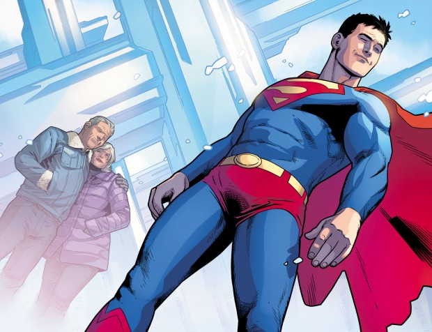 Superboy Dons The Superman Costume (Injustice II)