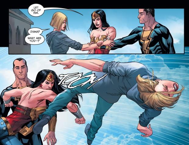 Supergirl Trains With Black Adam (Injustice II)