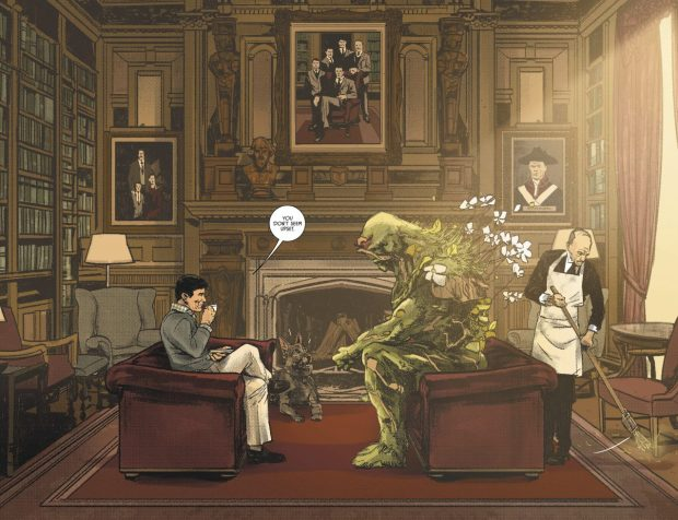 Swamp Thing At Wayne Manor
