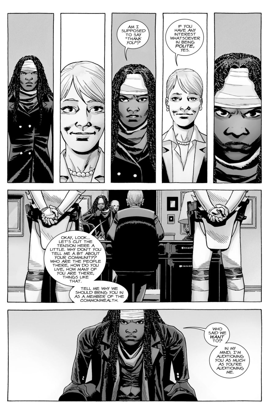 The Commonwealth Tries To Recruit Michonne (The Walking Dead)