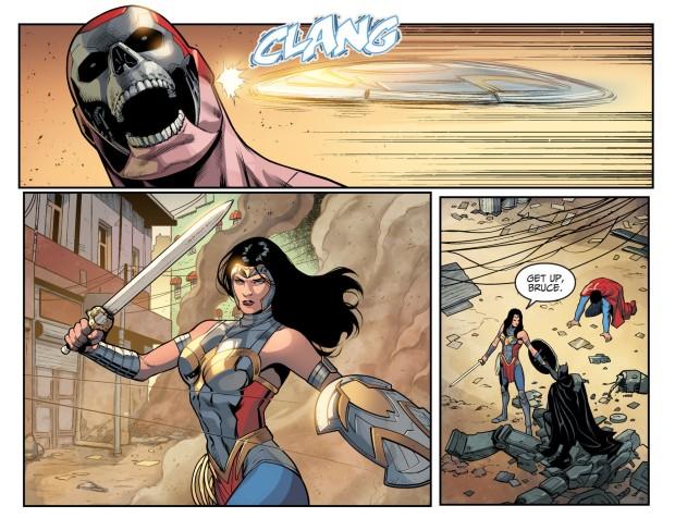 Wonder Woman Saves Batman From Amazo (Injustice II)