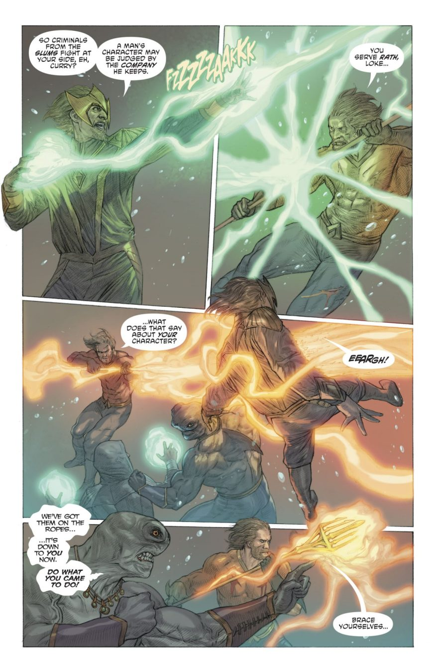 Aquaman Tears Down The Crown Of Thorns
