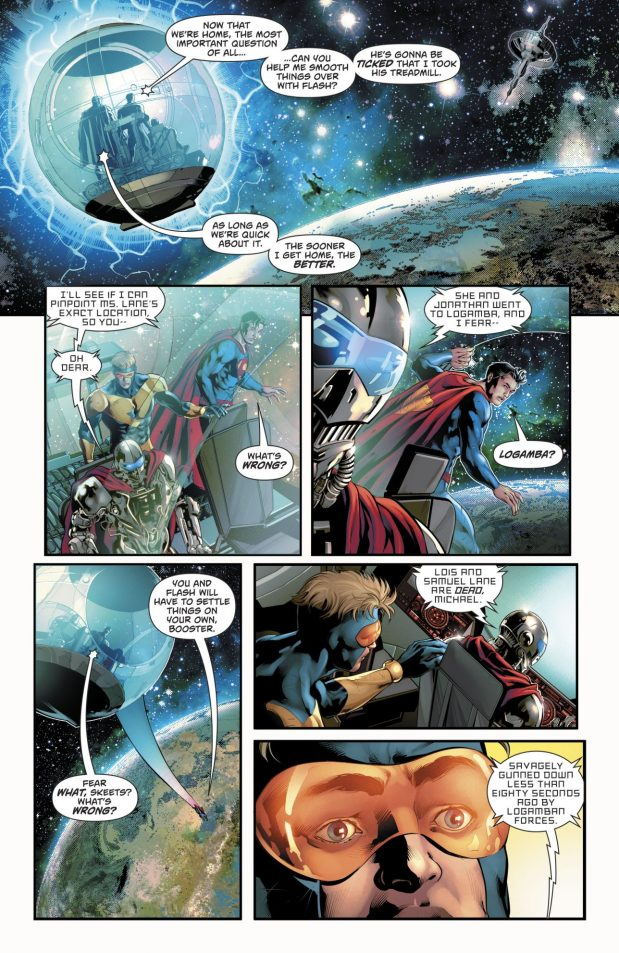 Booster Gold Brings Lois Lane Back From The Dead (Rebirth)