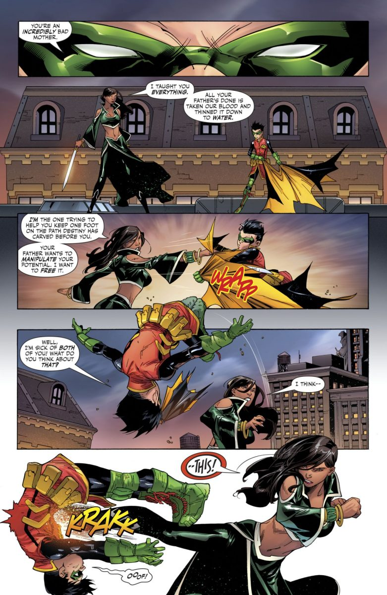 Damian Wayne VS Talia al Ghul (Super Sons #14)