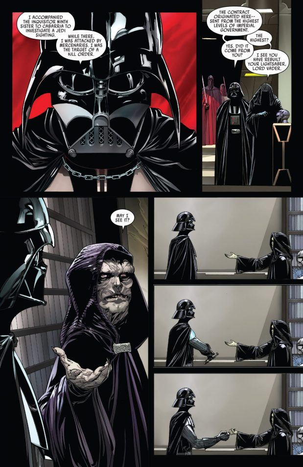 Darth Vader Creates A New Lightsaber Hilt