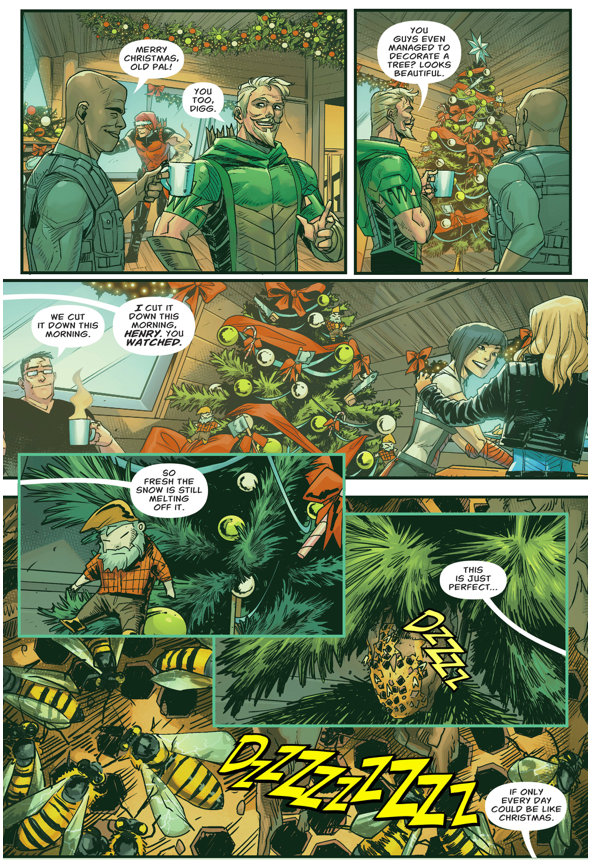 Green Arrow Attacked By Bees (Rebirth)