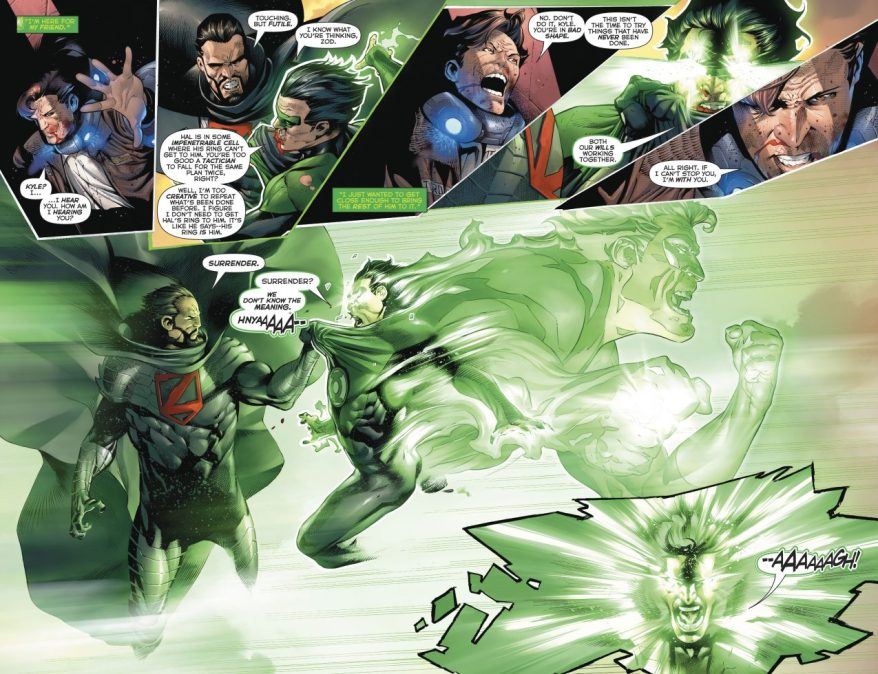 Green Lantern Kyle Rayner VS General Zod
