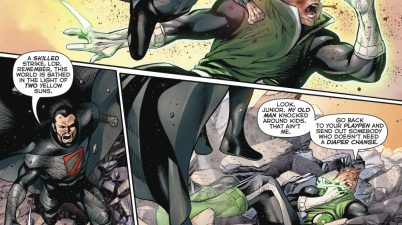 Guy Gardner Refuses To Hit A Kid