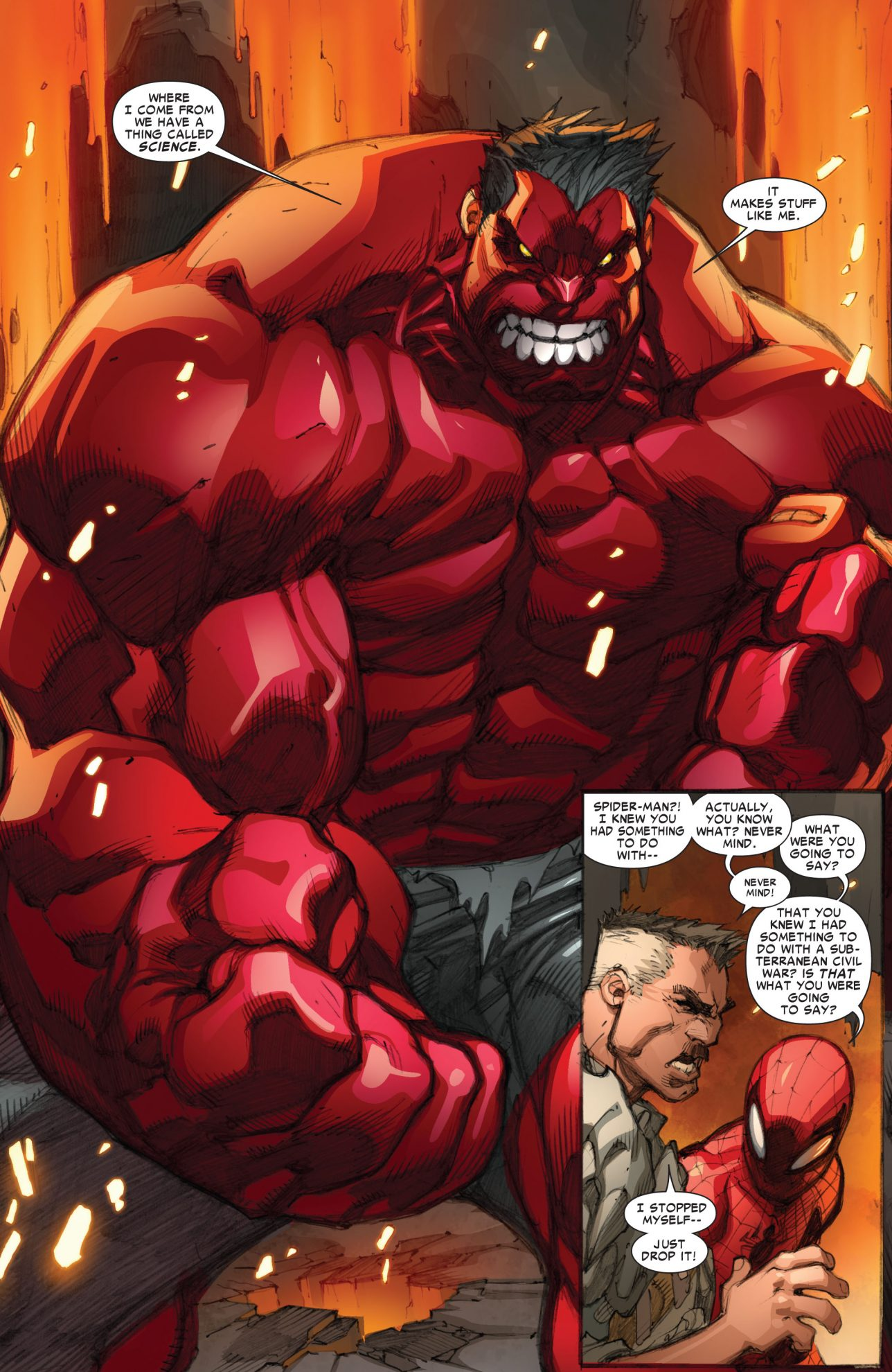 Red hulk avenging spider man 2 comicnewbies - Pictures of red hulk ...