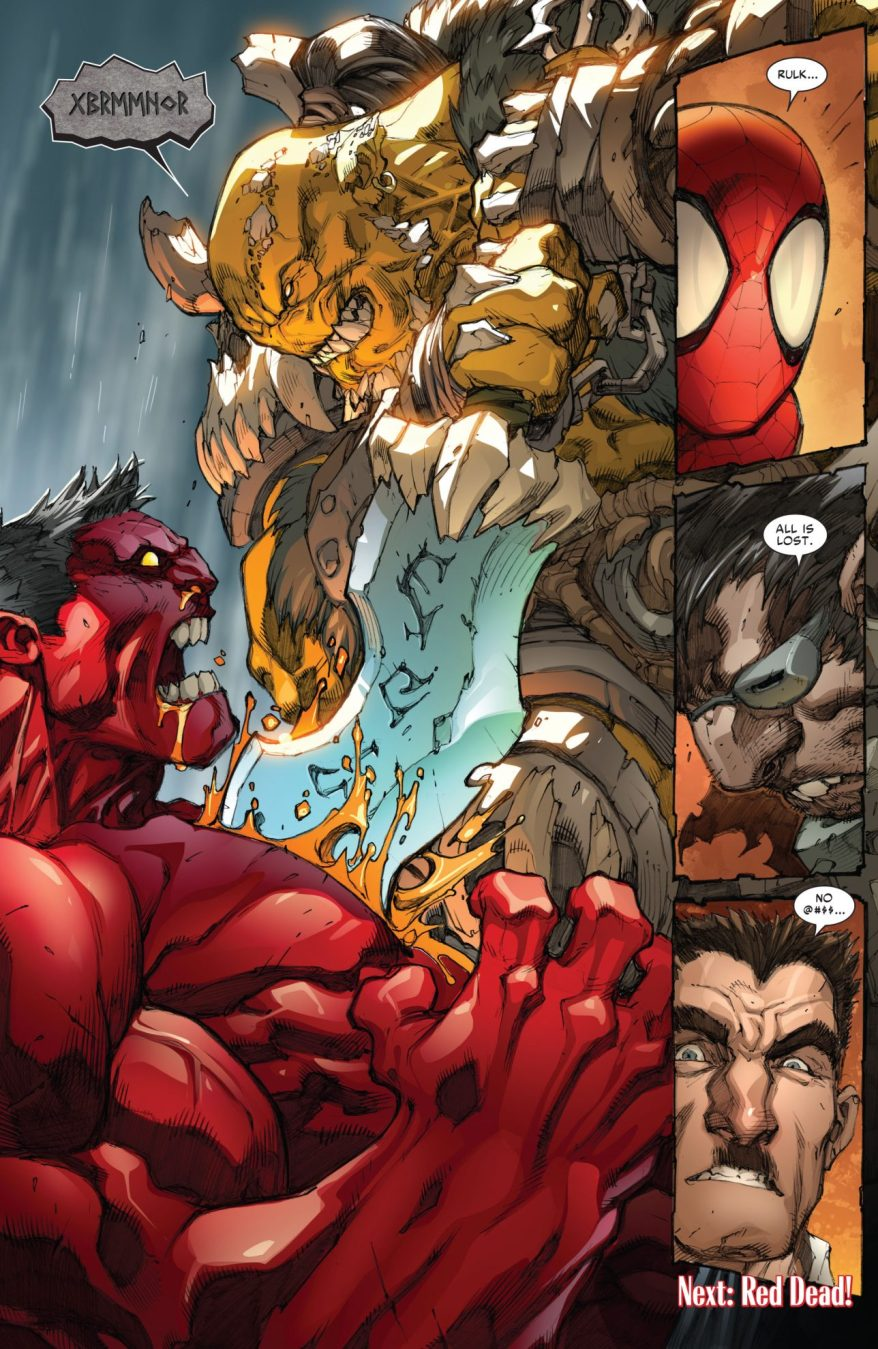 Red Hulk VS Rak'tar