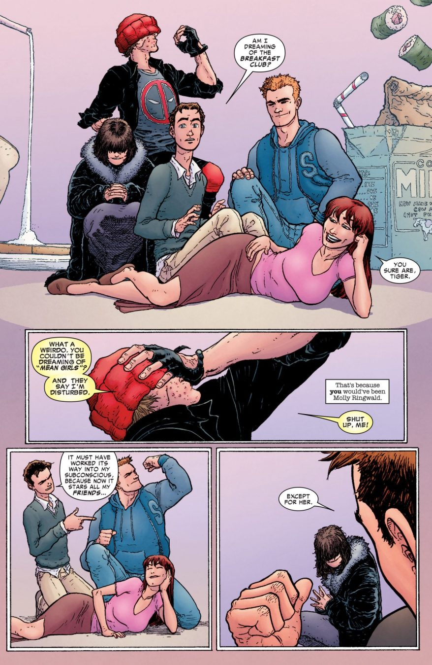 Spider-Man Dreams About The Breakfast Club