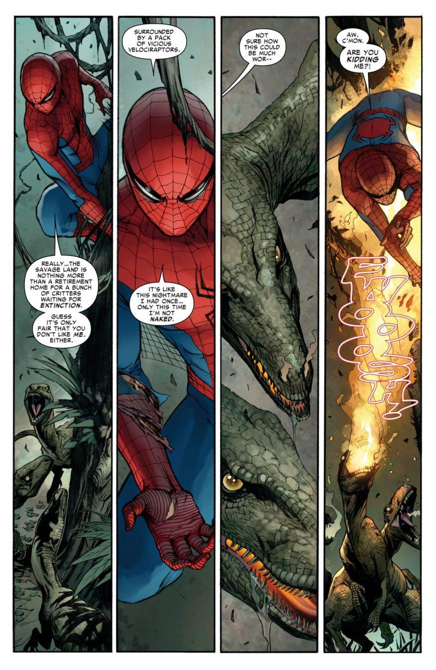 Spider-Man VS Savage Land Dinosaurs