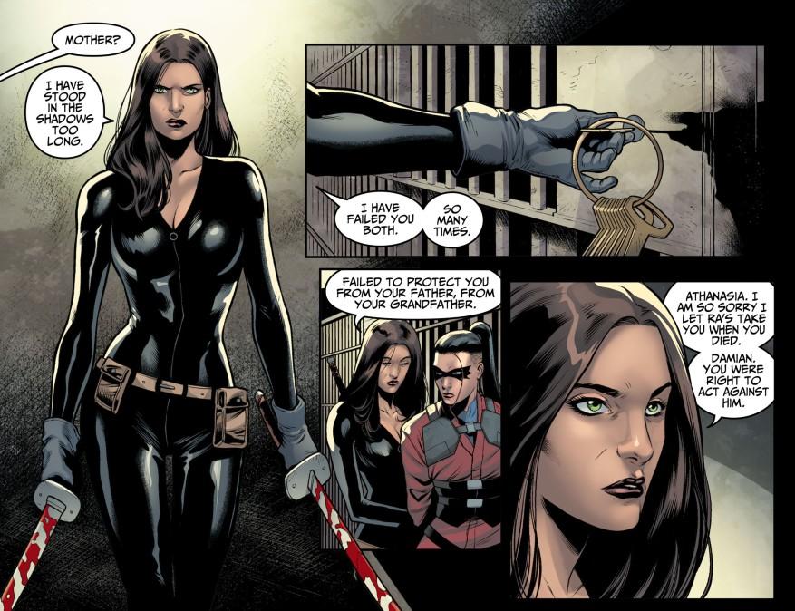 Talia al Ghul Betrays Her Father (Injustice II)