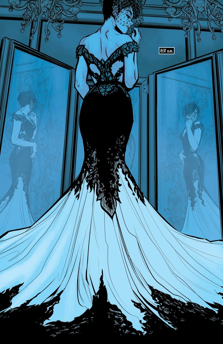 Catwoman Steals Her Wedding Gown