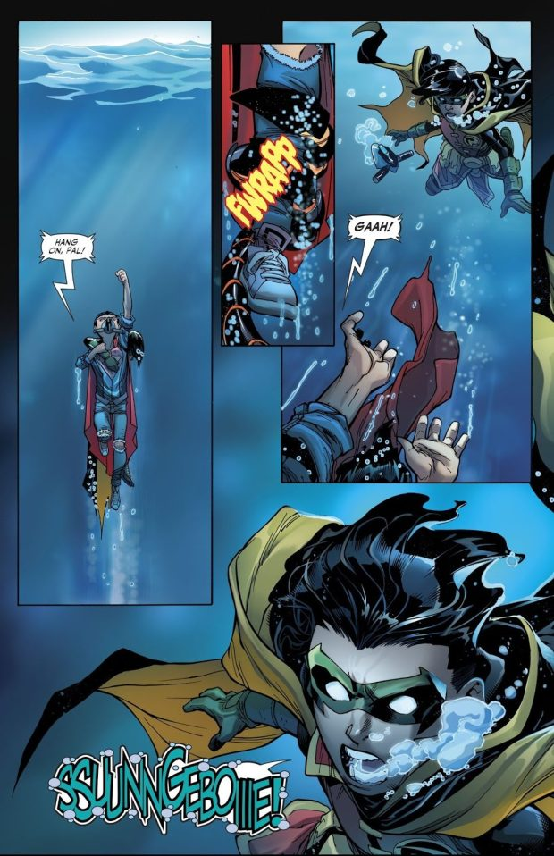 Cyborg Saves Damian Wayne