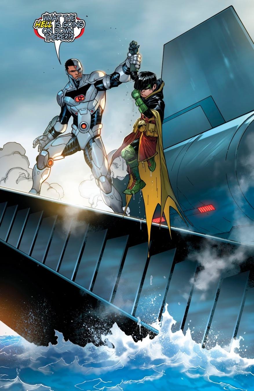 Cyborg Saves Damian Wayne