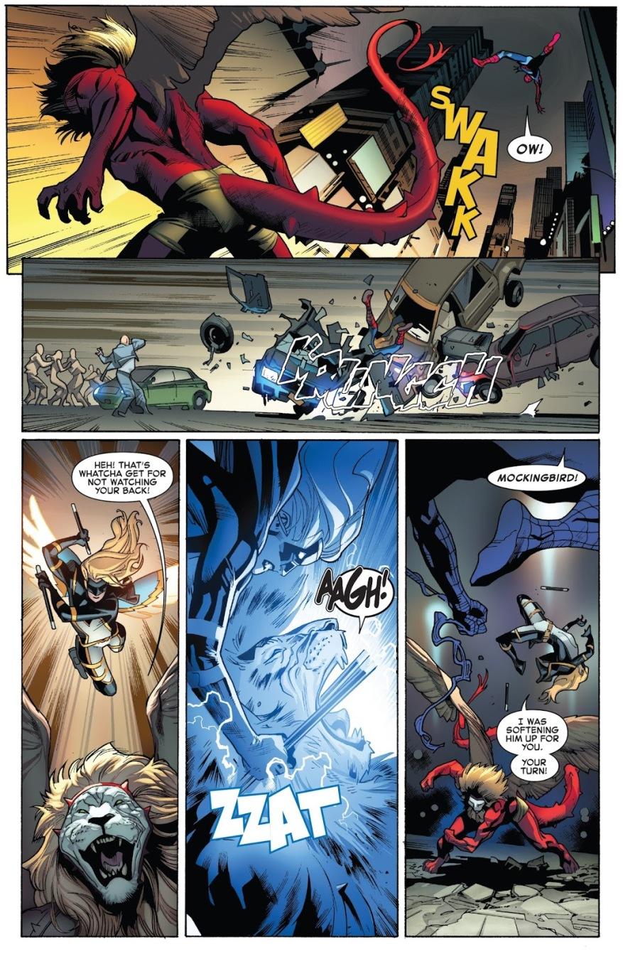 Spider-Man And Mockingbird VS Griffin