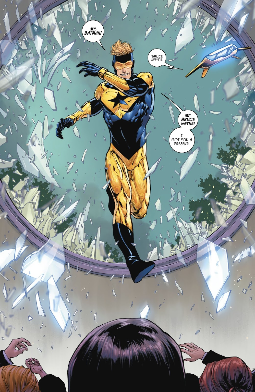 booster gold u2019s wedding gift to batman