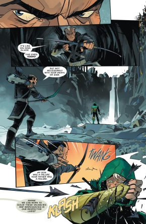 Green Arrow Captures Dark Archer (Rebirth)