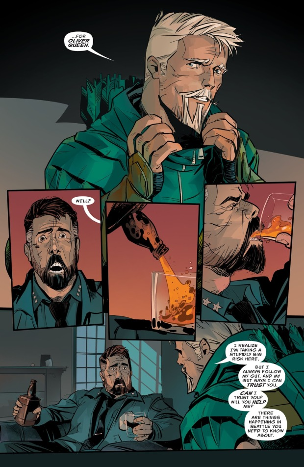 Green Arrow Reveals His Secret Identity To Chief Westberg