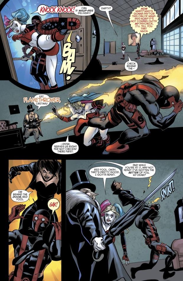 Harley Quinn Beats Up The Penguin