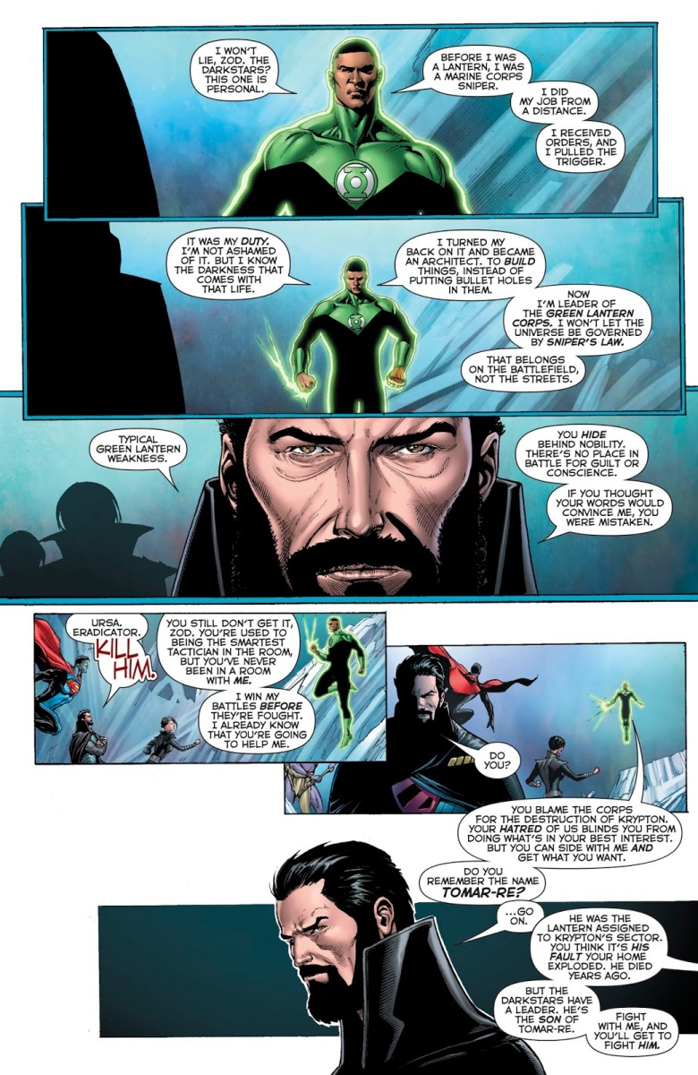John Stewart Outsmarts General Zod (Rebirth)