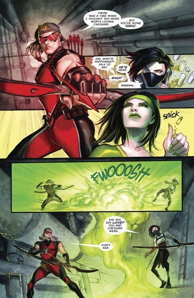 Red Arrow (Emiko Queen) VS Cheshire