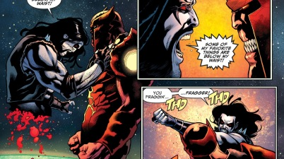 Atrocitus Cuts Lobo In Half (Injustice II)