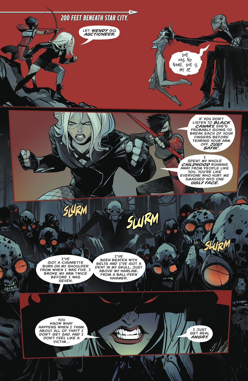 Black Canary VS The Auctioneer | Comicnewbies