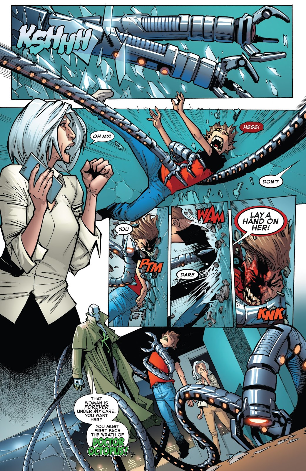 Doctor Octopus Protecting Aunt May | Comicnewbies