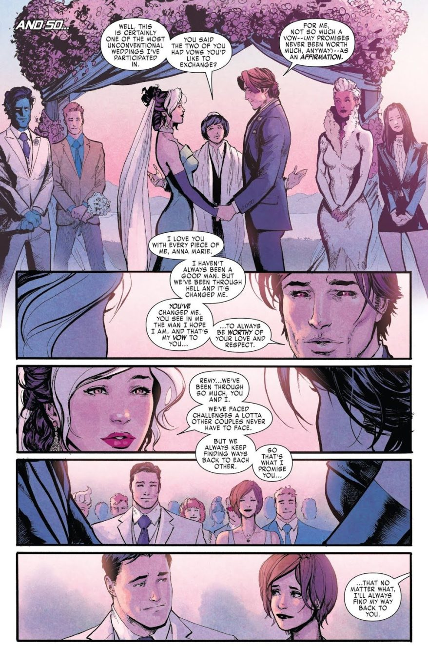 Gambit And Rogue's Wedding