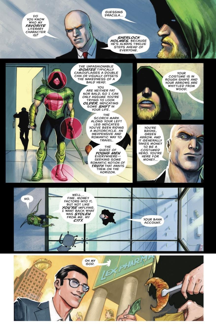 Green Arrow Meets Lex Luthor (Rebirth)
