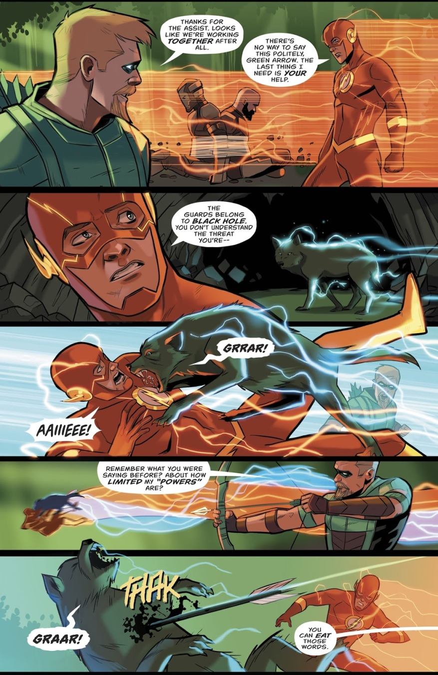 Green Arrow Saves The Flash