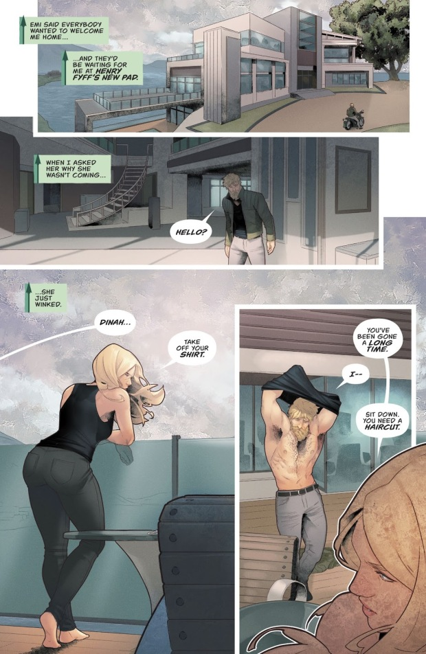 Green Arrow Says I Love You To Black Canary (Rebirth)