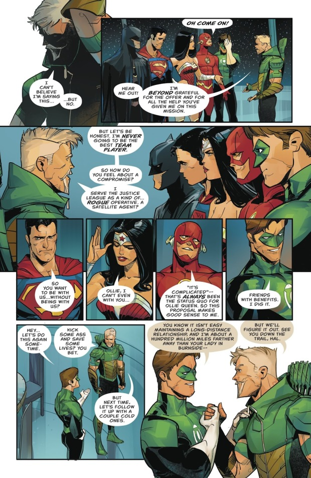 Green Arrow Turns Down A Justice League Invitation (Rebirth)