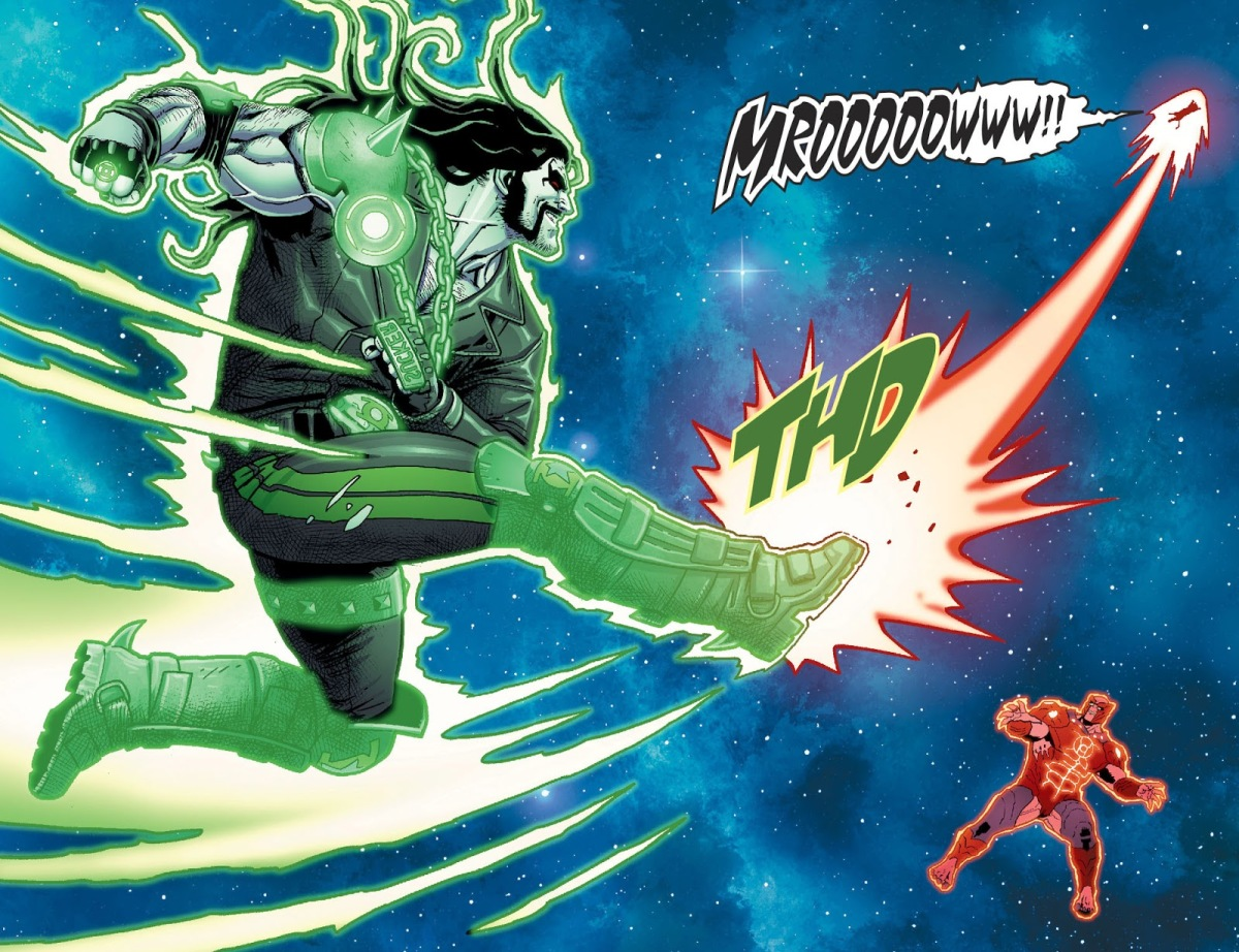 Green Lantern Lobo Kicks Dex-Starr (Injustice II)