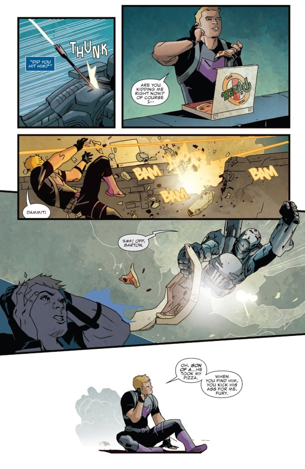 Hawkeye Pisses Off War Machine Punisher