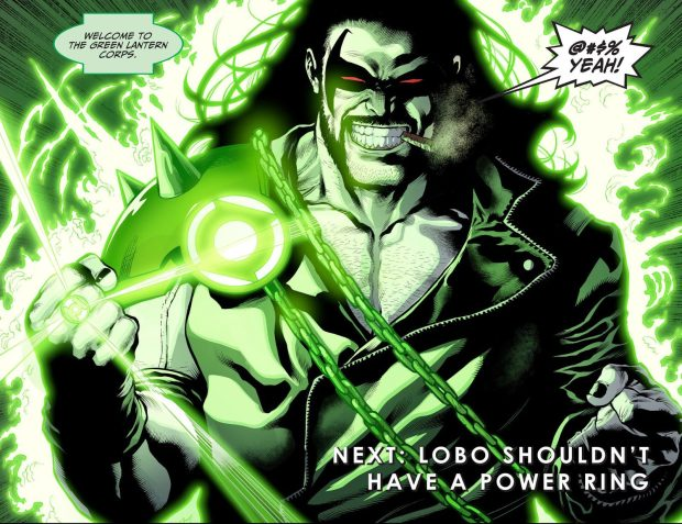 Lobo Wearing A Green Lantern Ring (Injustice II)