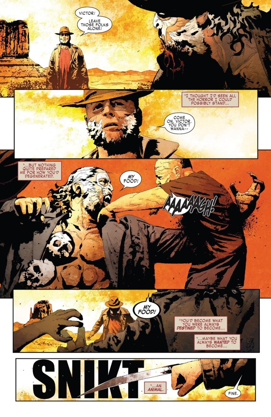 Old Man Logan Kills Sabretooth
