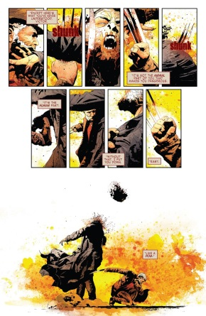Old Man Logan Kills Sabretooth