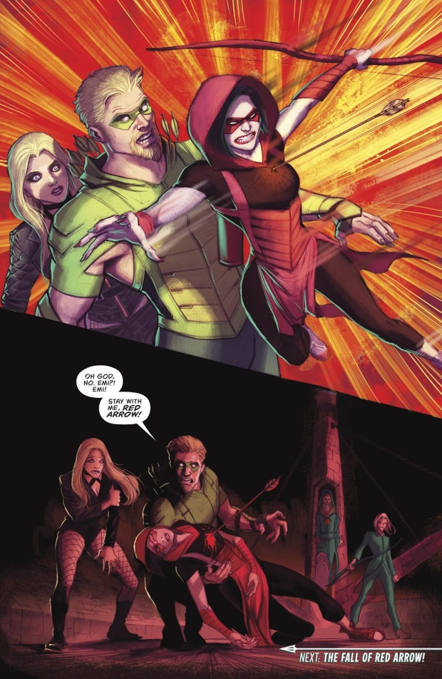 Red Arrow Saves Green Arrow's Life (Rebirth)