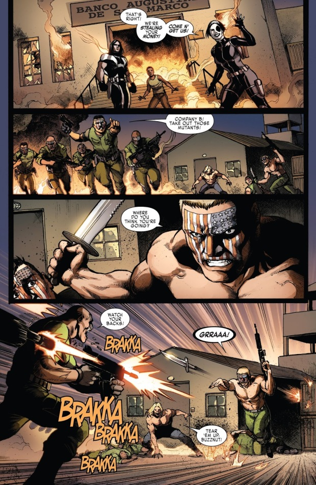 Sabretooth And Nuke VS Nuke Platoon