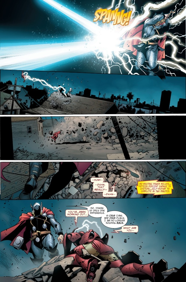 Thor VS Iron Man (Post-Civil War)