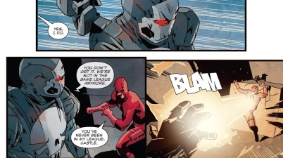War Machine Punisher Takes Down Daredevil