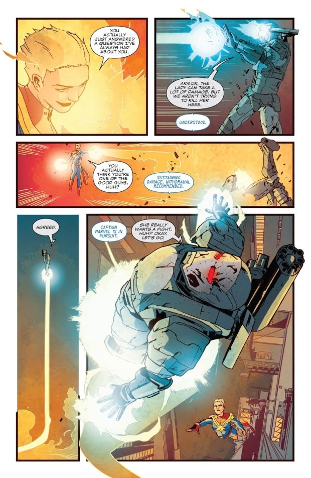 War Machine Punisher VS Captain Marvel
