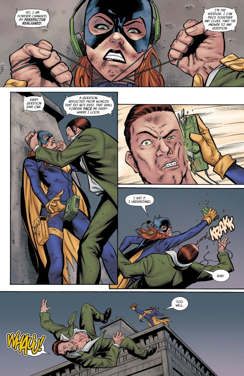 batgirl vs the riddler prelude to the wedding comicnewbies