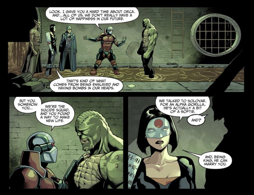 Killer Croc Proposes To Orca (Injustice II)