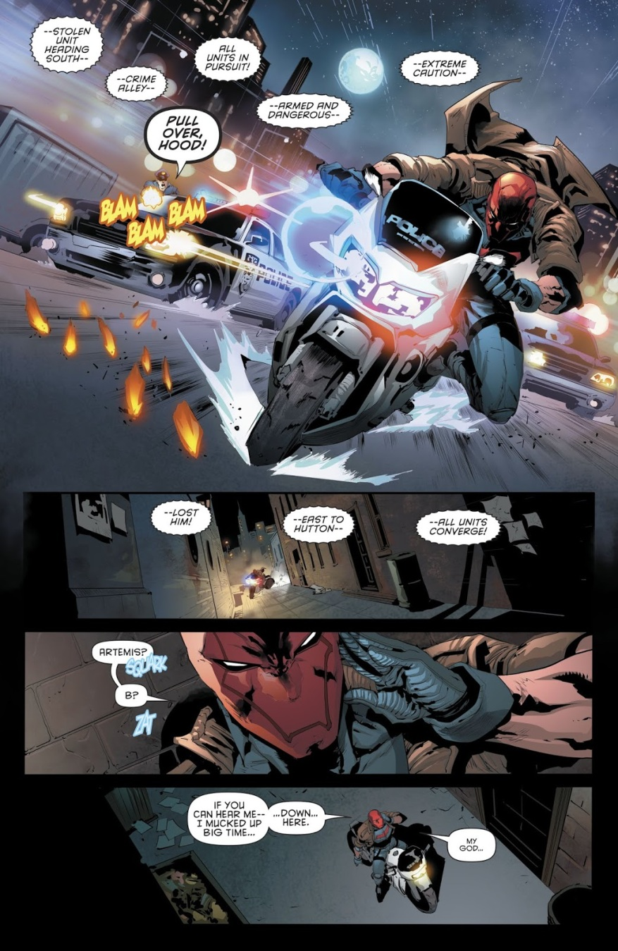 Red Hood Shoots The Penguin In The Head