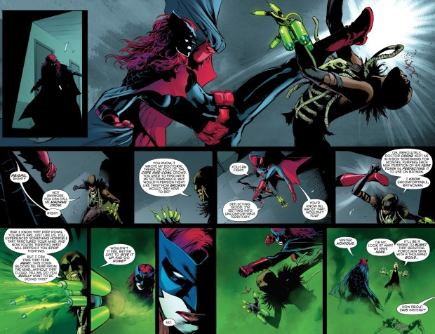 Batwoman And Batwing VS Madame Crow And Mister Noxious