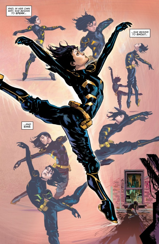 Cassandra Cain Performs A Ballet Dance
